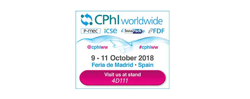 Feria CPhI Worldwide de Madrid 9-11 Octubre 2018